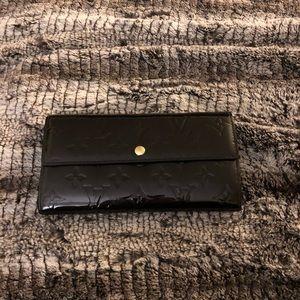 Louis Vuitton black vernis wallet